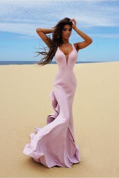 fb1e1198c689 Tinaholy Couture T1708B Tea Rose Low Back Mesh Insert Crepe Gown. Designer  Formal ...