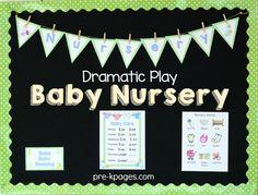 Baby Nursery Pretend Play Props for Preschoolers