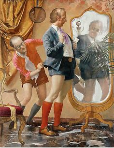 John Currin, Hot Pants, 2010  Some one pinned a whole John Currin board for me to check out this morning!  Fun with imagery! This is why I like being an artist!