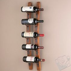 Barrel Stave Wall Wine Rack - for towels