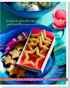 Spiced star cookies. Clipped from Better Homes and Gardens using Netpage.