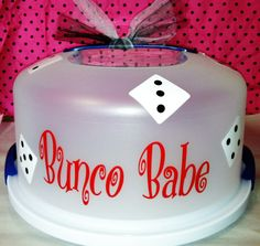 Personalized bunco babe cake carrier