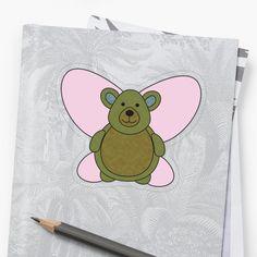 Plastic Stickers, Transparent Stickers, Sell Your Art, Sticker Design, Pikachu, My Arts, Butterfly, Bear, Art Prints