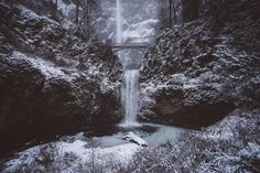 💡 Scenic view of waterfall - new photo at Avopix.com    ✔ https://avopix.com/photo/59546-scenic-view-of-waterfall    #crystal #ice #fountain #solid #structure #avopix #free #photos #public #domain