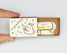 Congratulations You made it Card Matchbox/ Gift box by shop3xu