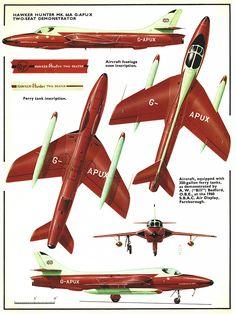 Hawker Hunter 2 seater G-APUX