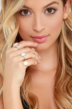 Hand in Hand Gold and Peach Ring Setat Lulus.com!