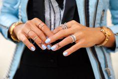 < silver x blue >  via @vivaluxury