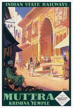 ~ Roger Broders (1883-1953) Krishna Temple, Illustrations, Movies, Movie Posters, Posters, Travel, Films, Illustration, Film Poster