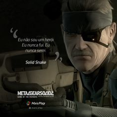 6 Frases de acontecimentos importantes de Metal Gear Solid 4 para você recordar Metal Gear Solid 4, Gamers Anime, Song Quotes, Video Games, Nerd, Geek Stuff, Sayings, Learning, Videos