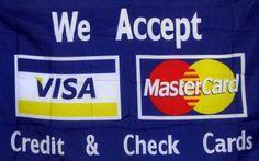 Visa-Mastercard 3'x 5' Advertising Business Flag