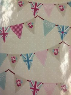 Fryett's Fabric Bunting In Pink Pvc /vinyl/oilcloth Tablecoth Metre Garden Bunting, Oilcloth, Fabric Bunting, Pvc Vinyl, Baby Items, Fabrics, Quilts, Blanket, Pink