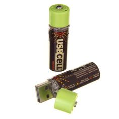 Read about these rechargeable AA batteries from USB Cell. They charge using a USB port and can last up to 500 charge cycles: