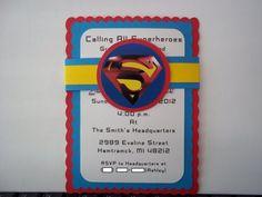 Superman Birthday Invitations   Timberlysdesigns - Seasonal on ArtFire