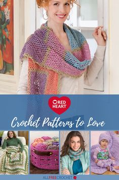 Excellent Image of Red Heart Yarn Free Crochet Patterns Red Heart Yarn Free Crochet Patterns Red Heart Yarn Crochet Patterns 19 Crochet Designs Youll Love Dishcloth Knitting Patterns, Afghan Crochet Patterns, Crochet Shawl, Crochet Yarn, Crochet Afghans, Knit Dishcloth, Crocheting Patterns, Crochet Scarfs, Crochet Gifts