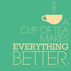 Drinking a lot of tea today.