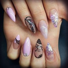 """""""Special request #feather #nailart for @kji_28  #getbuffednails #handpainted #lilacpolosh #notd #instanails #ignails #nailswag #melbournenailart…"""""""