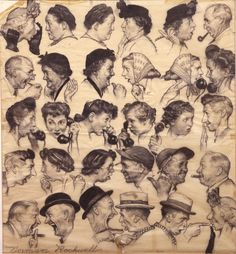 The Gossips study - Art of Norman Rockwell
