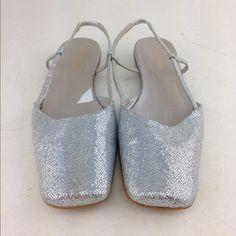 Kate Spade Flats These are silver sparkle Kaye Spade flats/sandals. kate spade Shoes Flats & Loafers