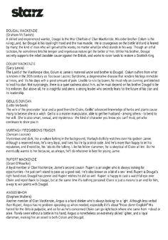 Who's who in Outlander Outlander Quotes, Outlander Book Series, Starz Series, Outlander Season 1, Starz Outlander, Saga, Jaime Fraser, Sam Heughan Caitriona Balfe, Diana Gabaldon Outlander
