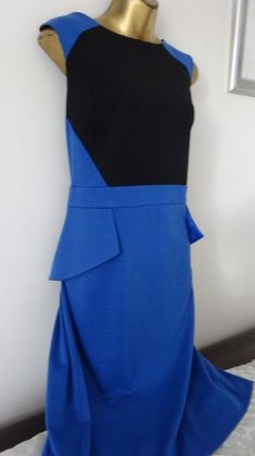 2578765432 DEFINITIONS NEW WITH TAGS ROYAL BLUE  BLACK SOFT JERSEY FEEL DRESS SIZE 16   fashion  clothing  shoes  accessories  womensclothing  dresses (ebay link)