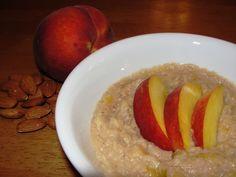#Vegan Slow Cookin': Peach Almond BreakfastPolenta