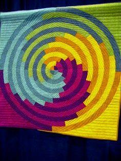 Spiral Quilt and Modern Crazy Quilt