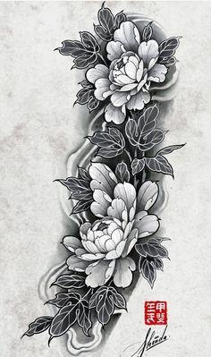 Forearm Sleeve Tattoos, Full Sleeve Tattoos, Tattoo Sleeve Designs, Leg Tattoos, Black Tattoos, Body Art Tattoos, Japan Tattoo Design, Floral Tattoo Design, Tattoo Design Drawings
