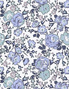 Liberty-Felicite- Bleu Denim Stragier / 1 m. Motif Liberty, Liberty Art Fabrics, Liberty Print, Motif Design, Surface Pattern Design, Motif Floral, Floral Prints, Textures Patterns, Print Patterns