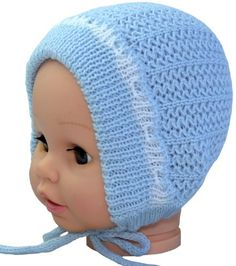 Dress up your little ones in a festive blue bonnet that's perfect for Easter.  This knitting pattern is perfect for advanced and beginner knitters alike!