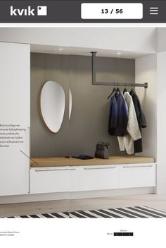 Somme: Visit two modern townhouses on the beach in a quiet sack Hallway cupboards, small closet space, bedroom wardrobe. Gothic Home Decor, Fall Home Decor, Hallway Cupboards, Flur Design, Diy Design, Small Closet Space, Modern Townhouse, Hall Furniture, Cheap Furniture