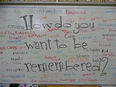Powerful lesson plan on bullying and meanness. It's from YourKids Teacher: Erasing Meanness. Check out the entire lesson and consider customizing something like it for a unit on bullying. Future Classroom, School Classroom, Classroom Meeting, Classroom Ideas, Classroom Organization, Classroom Management, Behaviour Management, E Mc2, Teaching