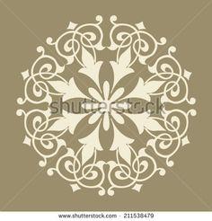 Round Pattern Mandala. Abstract design of Persian- Islamic-Turkish-Arabic vector circle floral ornamental border!
