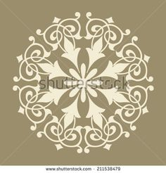 Round Pattern Mandala. Abstract design of Persian- Islamic-Turkish-Arabic vector circle floral ornamental border!