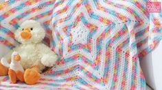 Learn how to crochet a Baby Star Blanket. I've done a star afghan in the past but this one has a much easier starting point to make it quicker and less complicated.
