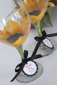 Sunflower wedding goblets for the wedding reception | Flickr - Photo Sharing!