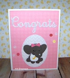 Ann Greenspan's Crafts: Ecstasy Crafts: Baby Cards