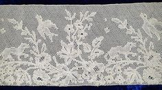My choice for best lace from the 3/9/2014 Ebay Alerts. Figural Point de Paris border.