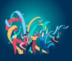 La Festa ha Inizio illustrazione vettoriale per presentazioni e siti web