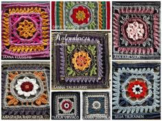 The Kalevala CAL is a blanket project where each participant can crochet their own Kalevala inspired blanket. square patterns, joining and the border, several languages. Crochet Squares, Crochet Blanket Patterns, Crochet Granny, Crochet Blankets, My Granny, Granny Squares, Pattern Design, Free Pattern, Anastasia