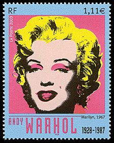Stamp 2003 - Andy Warhol 1928-1987 «Marilyn» 1967