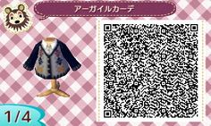 ACNL QR CODE-Sweater and Tie