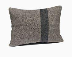 Chevron Felt Pillow Cover, Color Block Pillow Case, Gray Chevron Pillow, Grey Wool Cushion, Woolen Pillow, Lumbar Pillow, Stripe Pillow Grey Throw Pillows, Monogram Pillows, Burlap Pillows, Wool Pillows, Chevron Pillow, Felt Pillow, Lumbar Pillow, Velvet Quilt, Black Cushions