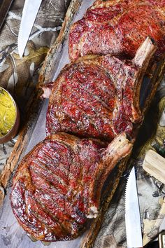 Let that thick cut of fresh bison shine with this simple smoked bison steak recipe. Bison Recipes, Wild Game Recipes, Steak Recipes, Grilling Recipes, Cooking Recipes, Carne Asada, Food Porn, Good Food, Yummy Food