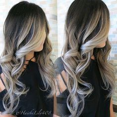 20 Cute and Easy Blonde Balayage Hairstyles – My hair and beauty Hair Color And Cut, Ash Gray Hair Color, Ombre Colour, Balayage Hair, Dark Brown To Blonde Balayage, Haircolor, Guy Tang Balayage, Bayalage Black Hair, Auburn Balayage