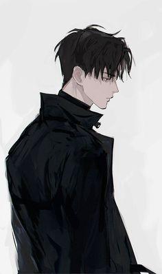 —— - Everything About Anime Cool Anime Guys, Handsome Anime Guys, Hot Anime Boy, Dark Anime Guys, Anime Wolf, Manga Anime, Anime Art, Anime Boy Drawing, Male Manga