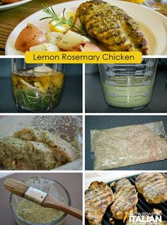 Simple Rosemary Lemon Marinade and Grilled Chicken #recipe #chicken #grilling #simple