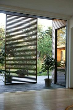 HT House: The Joy of Indoor/Outdoor Design - Modern Architecture House Design, House, Home, Outdoor Shutters, Screen Design, Modern House, House Exterior, Exterior Design, New Homes