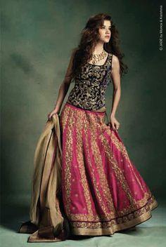 *** Lovely skirt. I like the corset top. Designer: Jade by Monica & Karishma