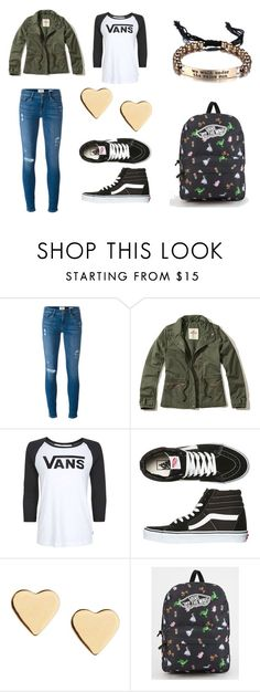 """""""School Outfits 2"""" by theresamhatch on Polyvore featuring Frame Denim, Hollister Co., Vans and Lipsy"""